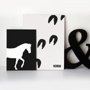 HORSE FOOTPRINT POSTERS