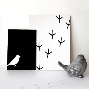BIRD FOOTPRINT POSTERS